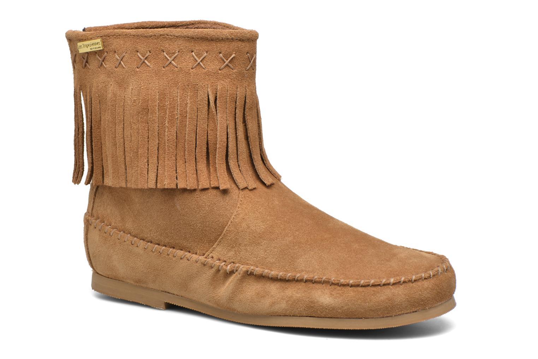 Bottines et boots Les Tropéziennes par M Belarbi Crabe Marron vue détail/paire