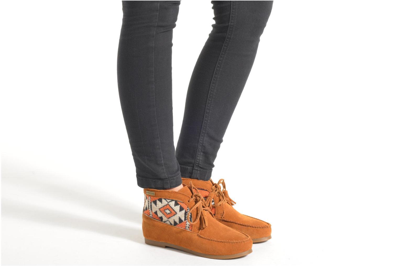 Bottines et boots Les Tropéziennes par M Belarbi Ginika Marron vue bas / vue portée sac