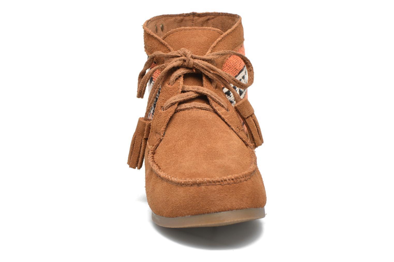 Bottines et boots Les Tropéziennes par M Belarbi Ginika Marron vue portées chaussures