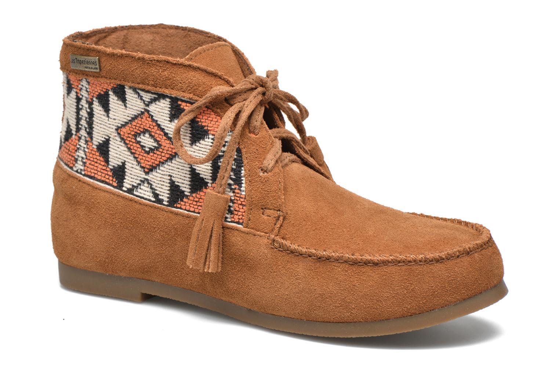 Bottines et boots Les Tropéziennes par M Belarbi Ginika Marron vue détail/paire
