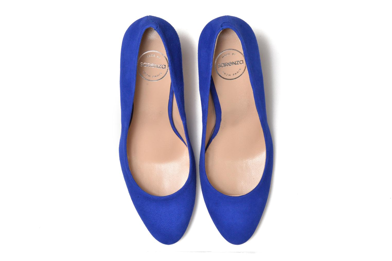 Zapatos de tacón Made by SARENZA Mexicoco #18 Azul vista del modelo