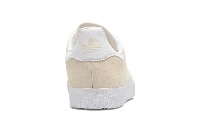 Baskets Adidas Originals Gazelle W Beige vue droite