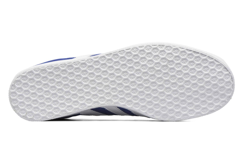 Baskets Adidas Originals Gazelle Bleu vue haut