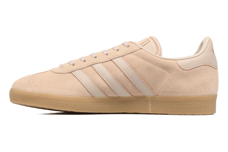 Baskets Adidas Originals Gazelle Beige vue face