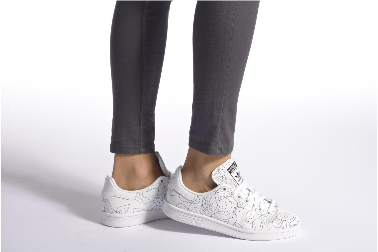 Baskets Adidas Originals Stan Smith Ro W Blanc vue bas / vue portée sac