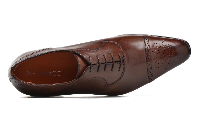 Snörade skor Marvin&Co Luxe Pemou - Cousu Blake Brun bild från vänster sidan