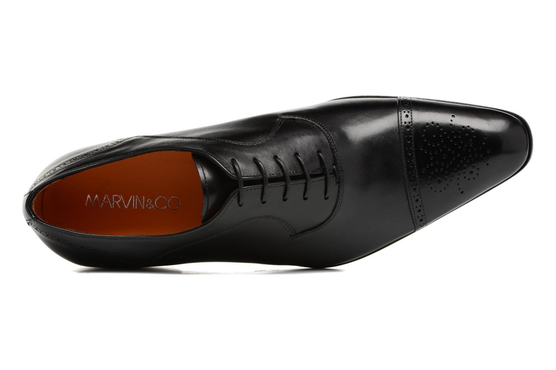 Snörade skor Marvin&Co Luxe Pemou Svart bild från vänster sidan