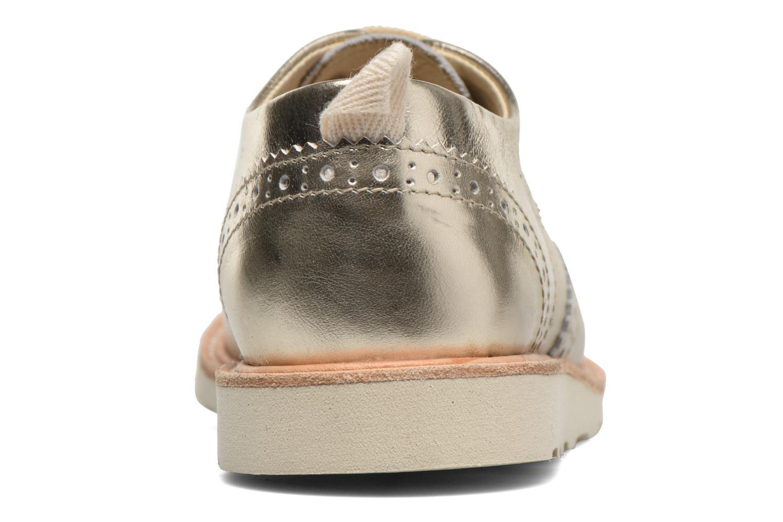 Chaussures à lacets Young Soles Brando Or et bronze vue droite