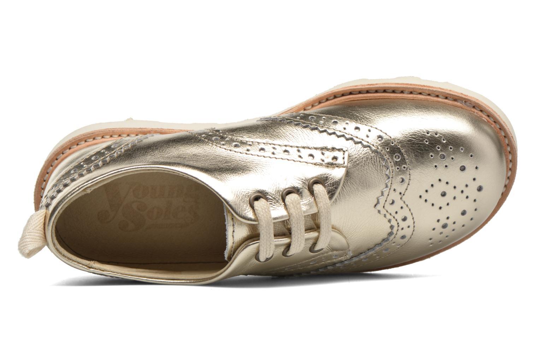 Chaussures à lacets Young Soles Brando Or et bronze vue gauche