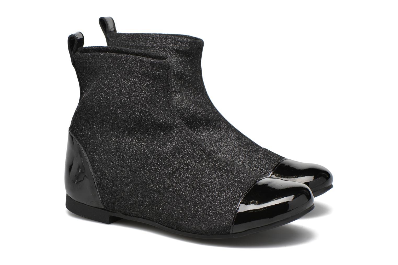 Bottines et boots Pom d Api Dory Boots Stretch Noir vue 3/4
