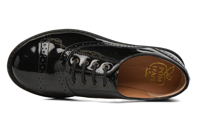 Chaussures à lacets Pom d Api City Richelieu Noir vue gauche