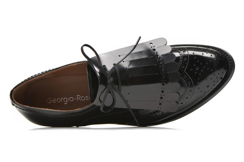 Chaussures à lacets Georgia Rose Parafrange Noir vue gauche