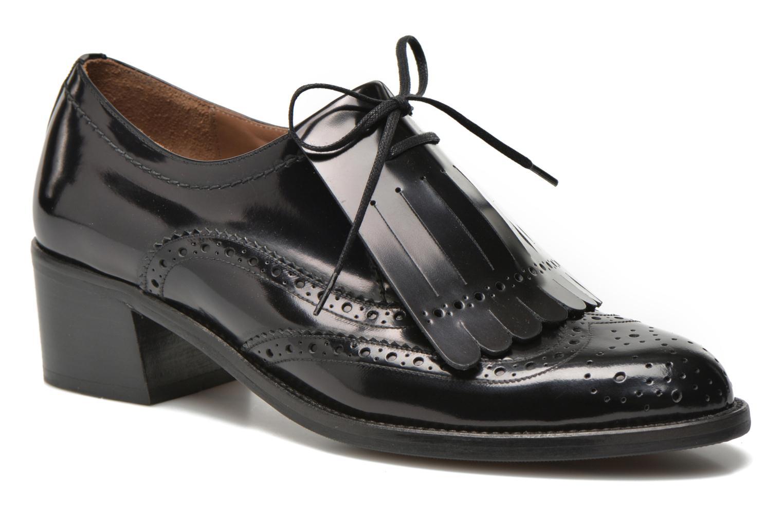 Chaussures à lacets Georgia Rose Parafrange Noir vue détail/paire