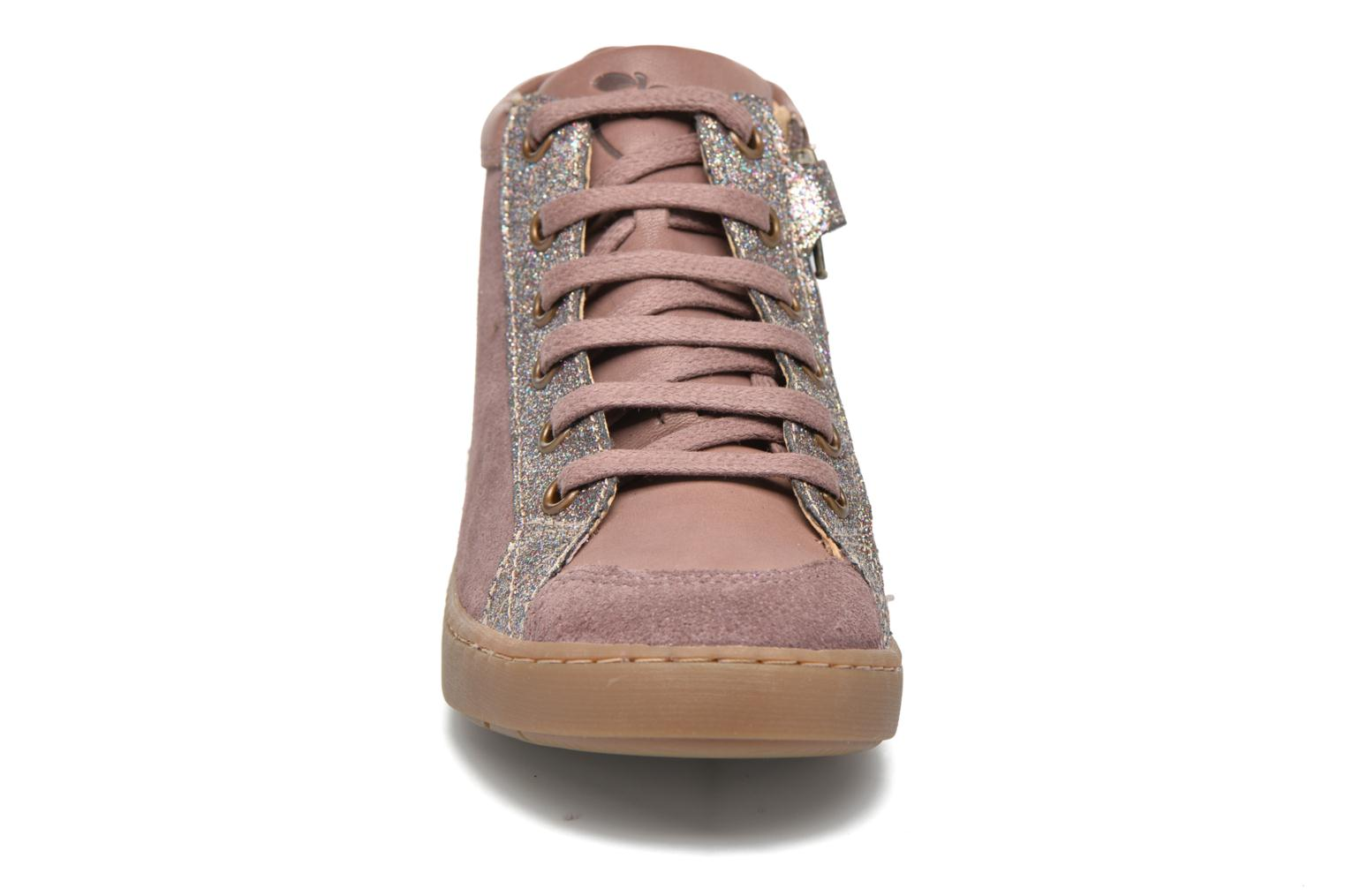 Baskets Shoo Pom Play Lace Zip Rose vue portées chaussures