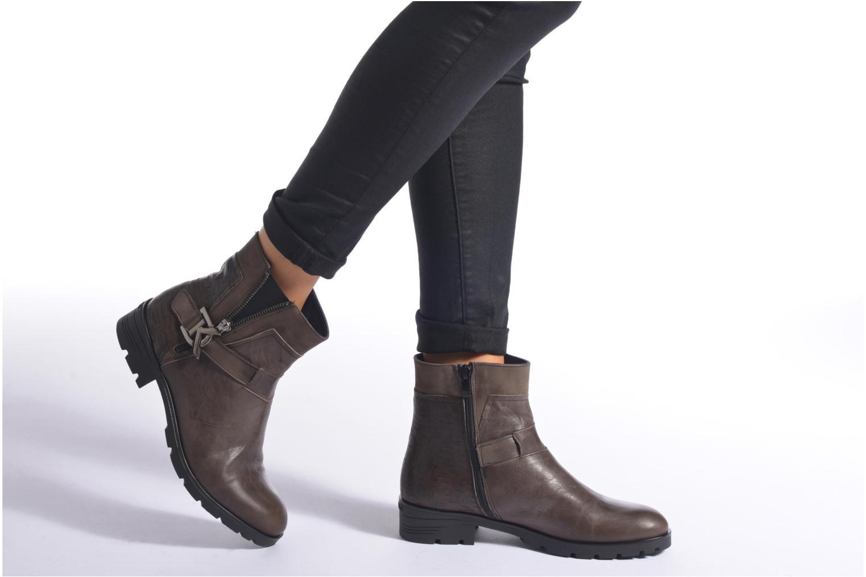 Bottines et boots Dorking Nala 6961 Marron vue bas / vue portée sac