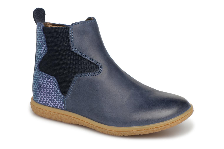 Bottines et boots Kickers Vermillon Bleu vue détail/paire