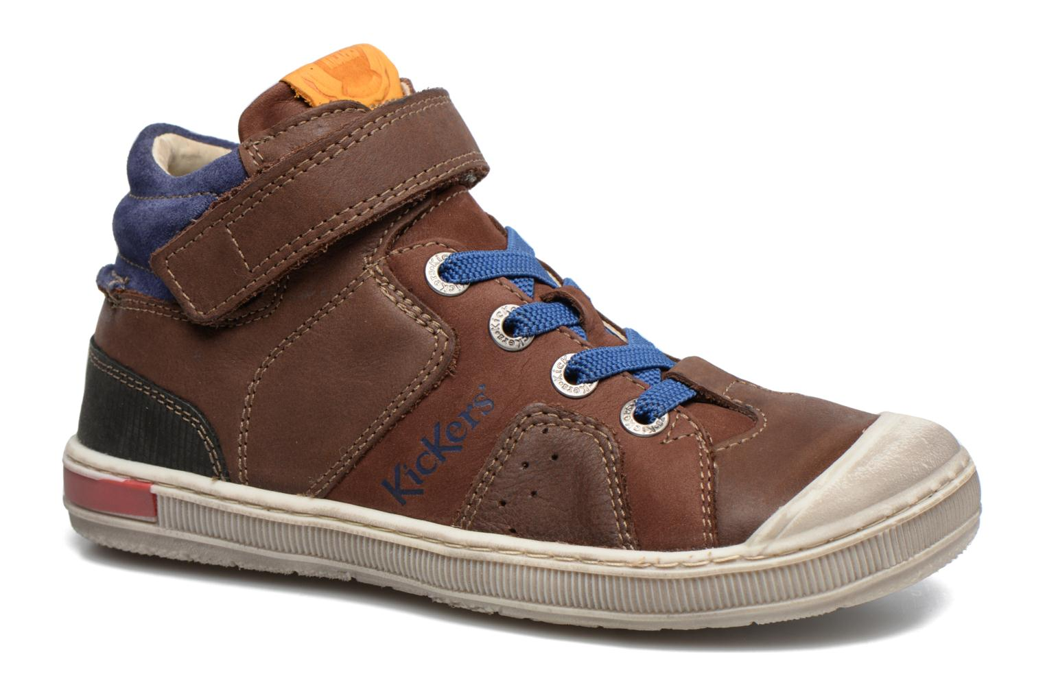Baskets Kickers Iguane Marron vue détail/paire