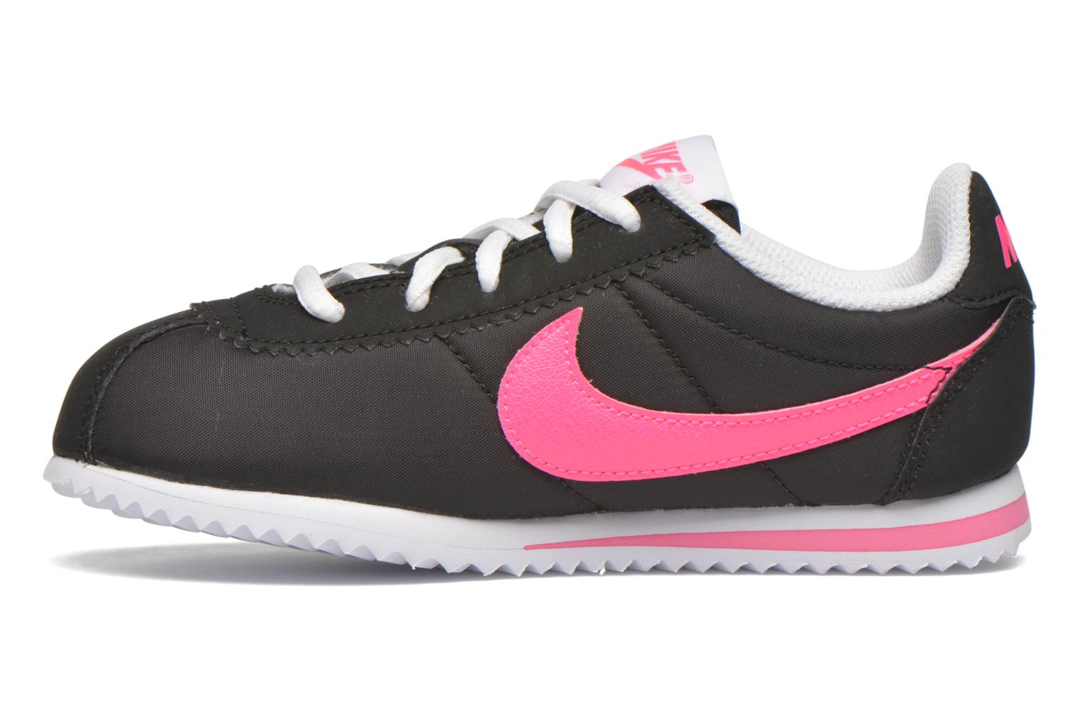 Trainers Nike Nike Cortez Nylon (Ps) Black front view