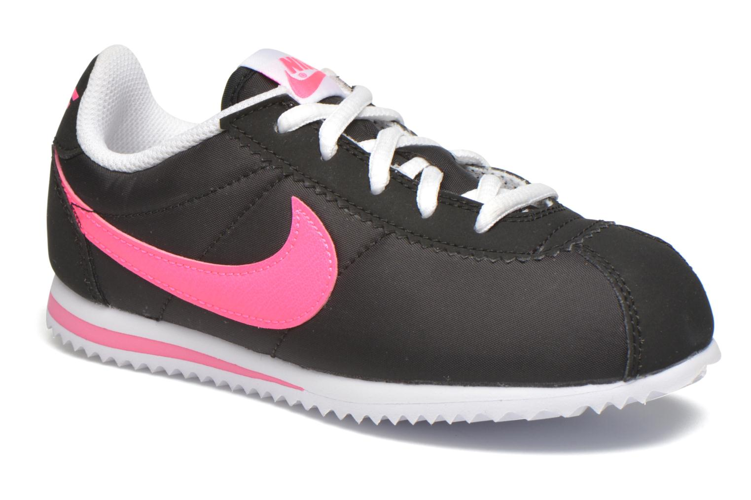 Trainers Nike Nike Cortez Nylon (Ps) Black detailed view/ Pair view