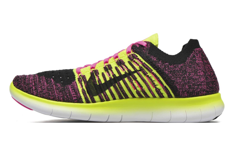 Nike Free Rn Flyknit (Gs) Pink Blast Mtllc Slvr Vlt Blk