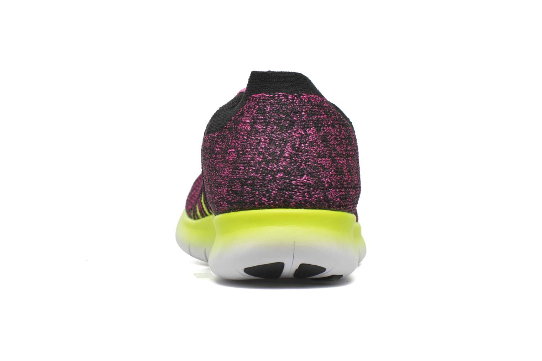 Baskets Nike Nike Free Rn Flyknit (Gs) Rose vue droite