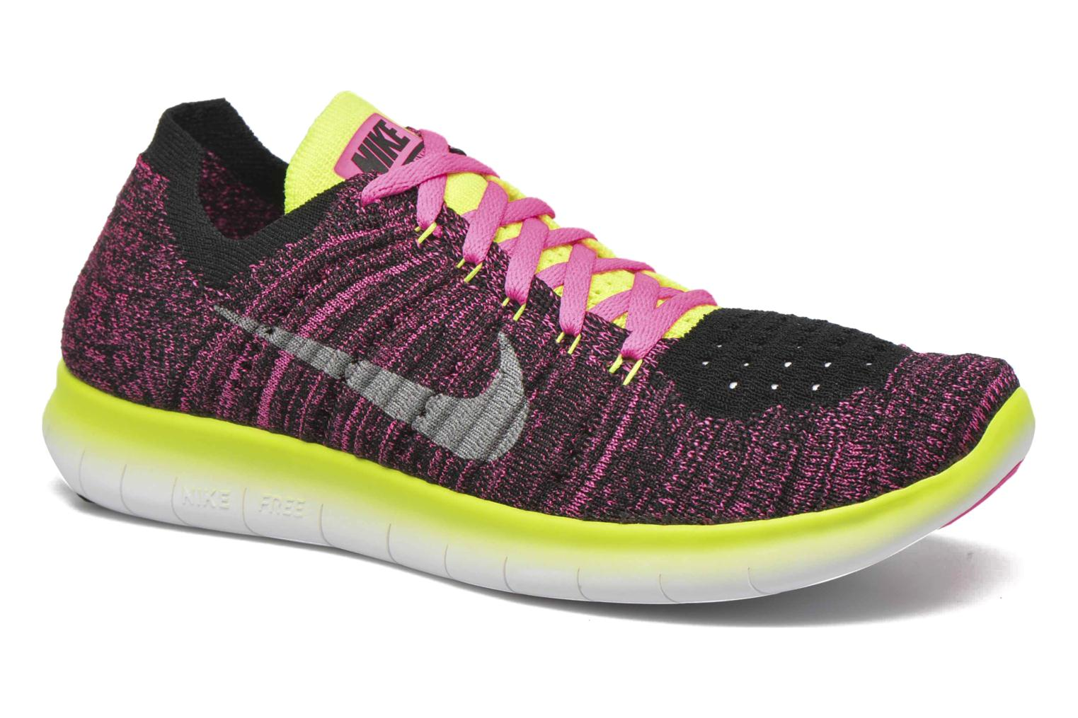 Baskets Nike Nike Free Rn Flyknit (Gs) Rose vue détail/paire