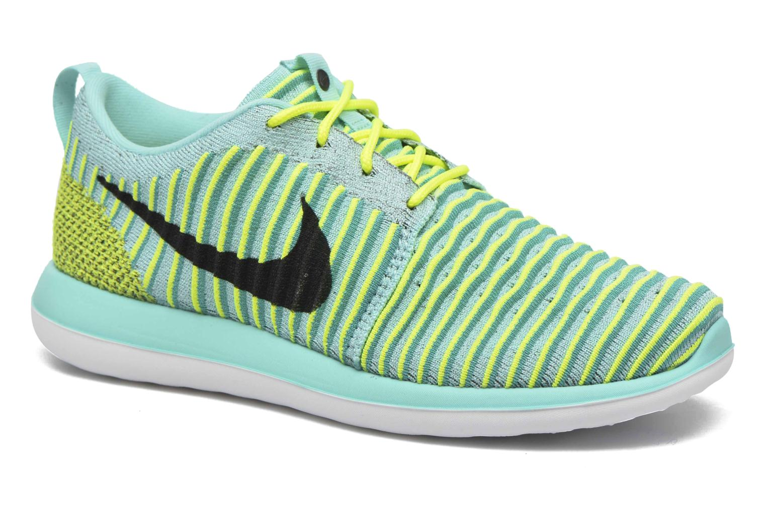 Baskets Nike Nike Roshe Two Flyknit (Gs) Bleu vue détail/paire