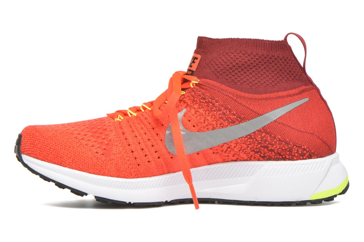Baskets Nike Zm Pegasus All Out Flyknit Gs Rouge vue face