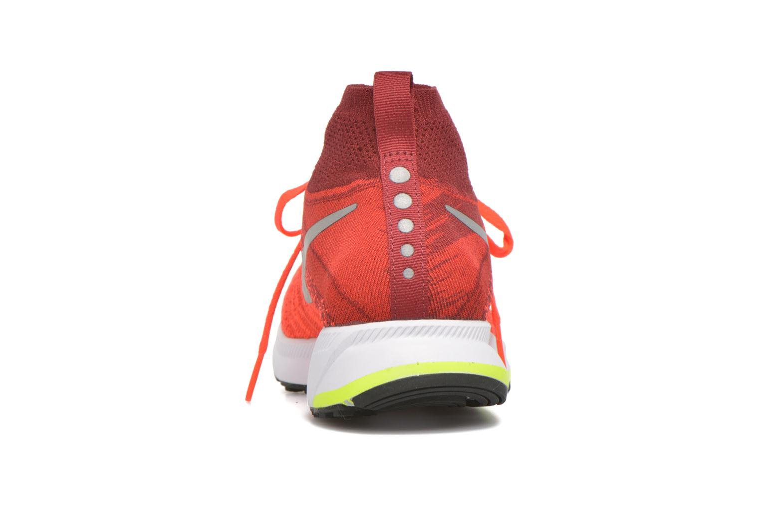 Baskets Nike Zm Pegasus All Out Flyknit Gs Rouge vue droite