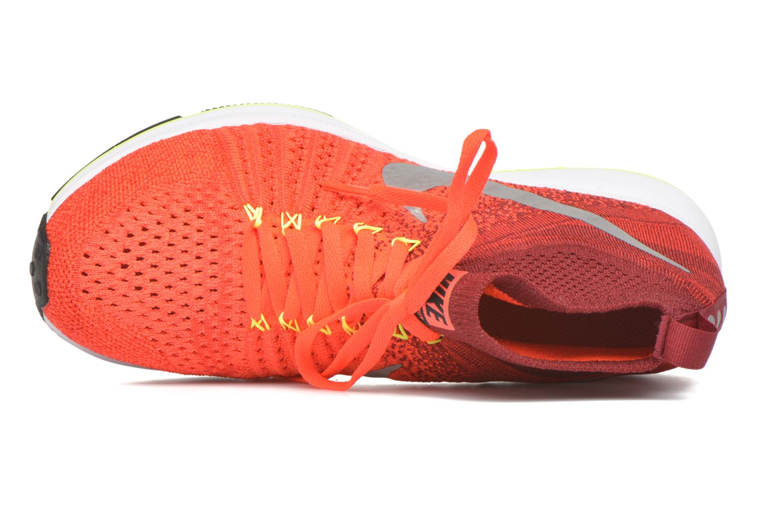 Baskets Nike Zm Pegasus All Out Flyknit Gs Rouge vue gauche