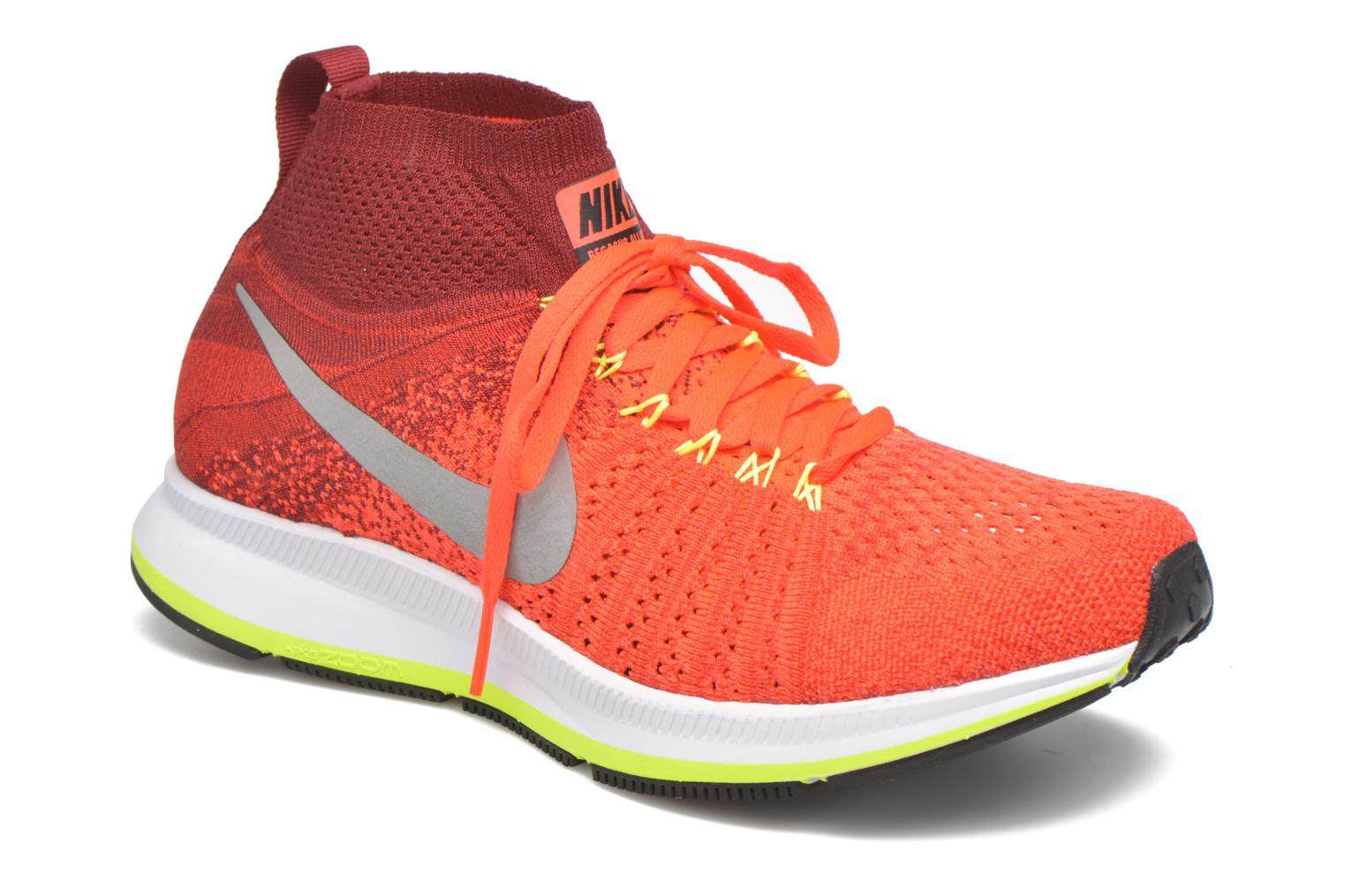 Baskets Nike Zm Pegasus All Out Flyknit Gs Rouge vue détail/paire