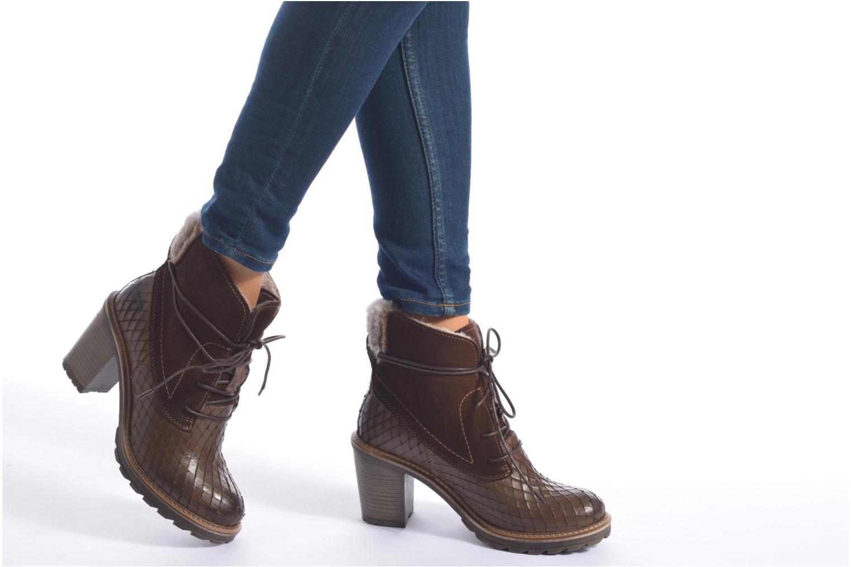 Bottines et boots Tamaris Datura Marron vue bas / vue portée sac