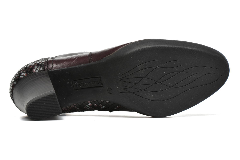 Bottines et boots Tamaris Feijoa Bordeaux vue haut