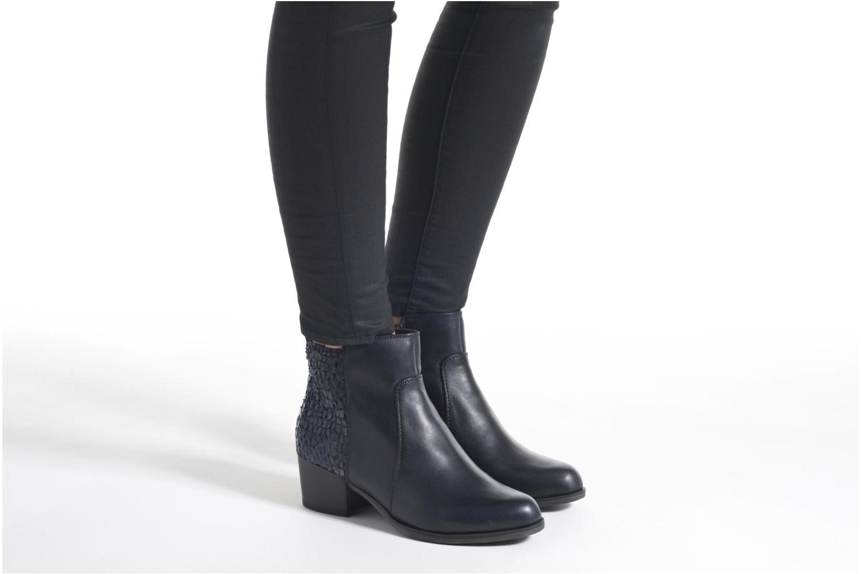 Bottines et boots Tamaris Ficus Bleu vue bas / vue portée sac