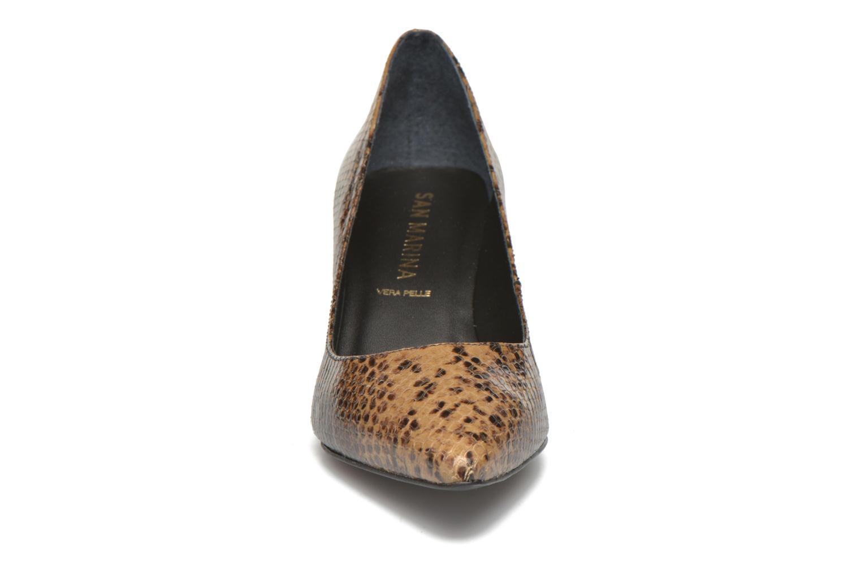 Escarpins San Marina Vigra/Serp Marron vue portées chaussures
