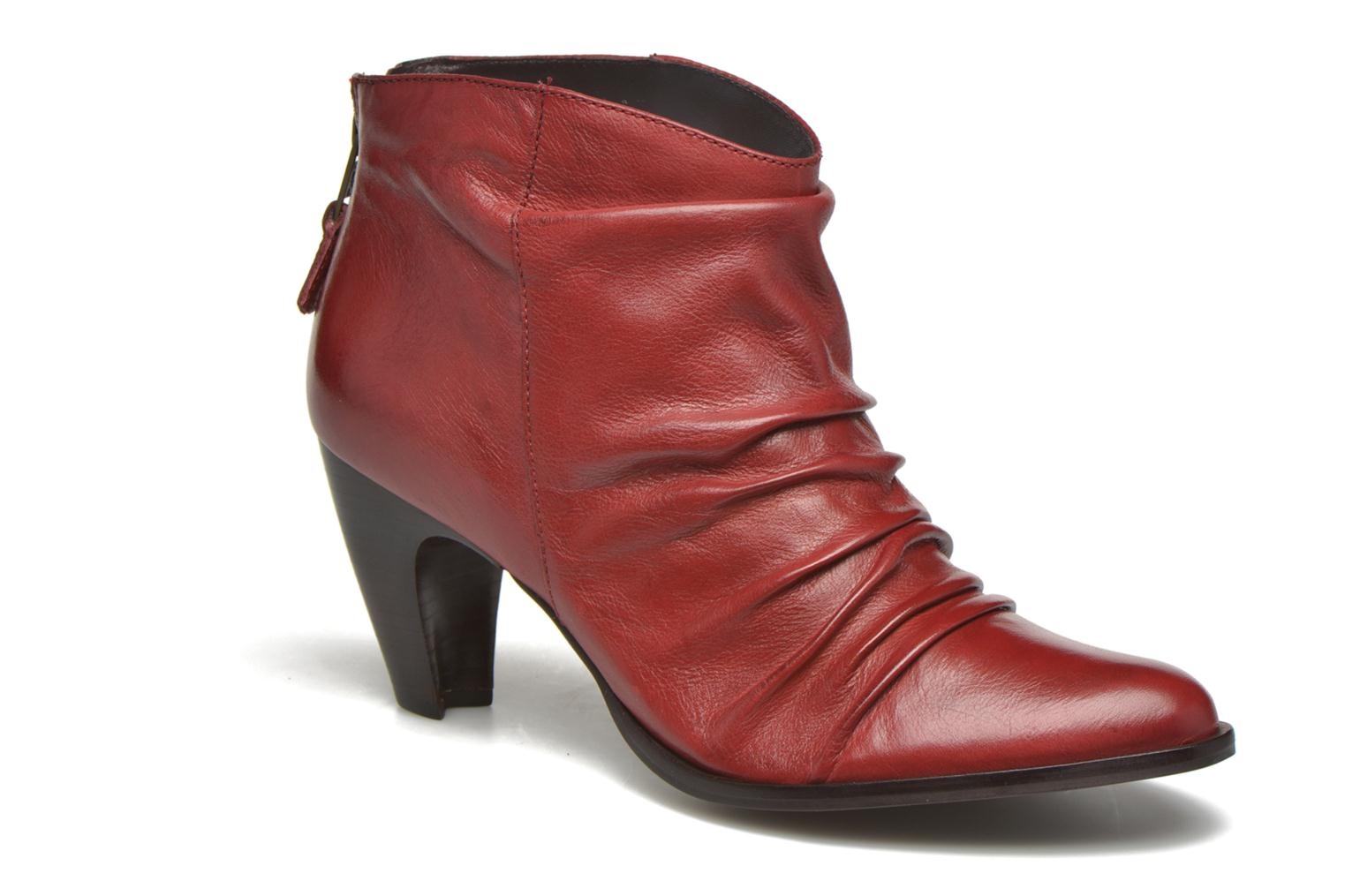 Ankle boots San Marina Macaria Red detailed view/ Pair view