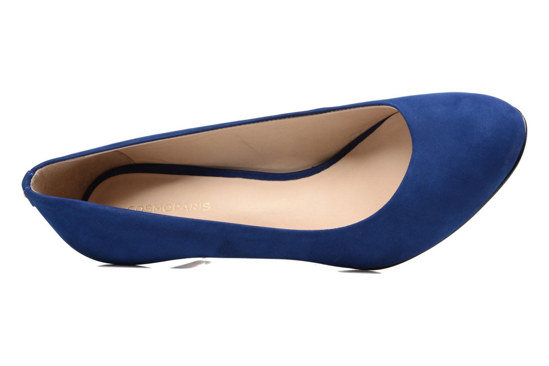 Escarpins COSMOPARIS Jenni/Nub Bleu vue gauche