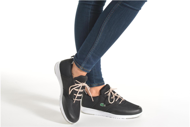 Sneaker Lacoste L.Ight R 316 1 W schwarz ansicht von unten / tasche getragen