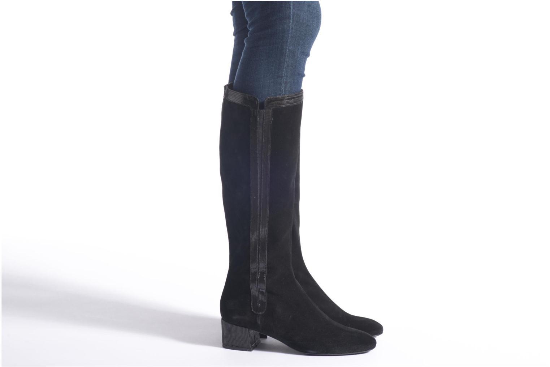 Stiefel Made by SARENZA Glamatomic #2 schwarz ansicht von unten / tasche getragen