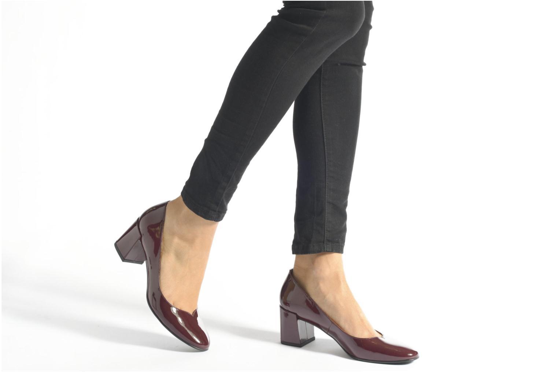 Escarpins Made by SARENZA Notting Heels #2 Bordeaux vue bas / vue portée sac