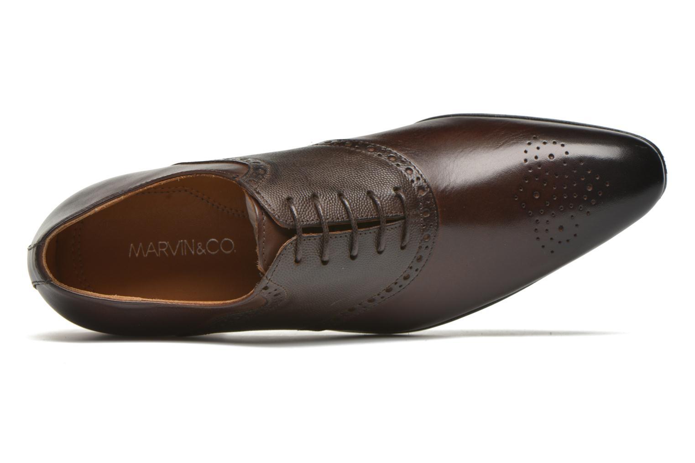 Zapatos con cordones Marvin&Co Newquay Marrón vista lateral izquierda