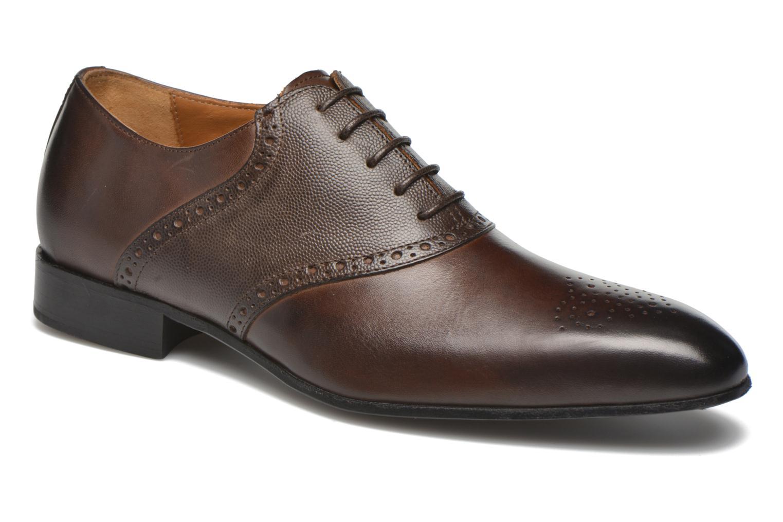 Chaussures à lacets Marvin&Co Newquay Marron vue détail/paire