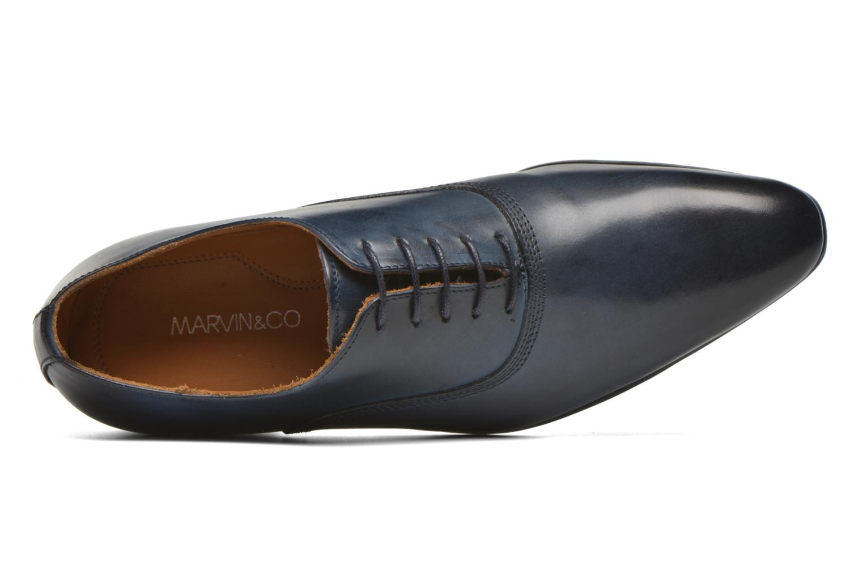 Schnürschuhe Marvin&Co Norwich blau ansicht von links