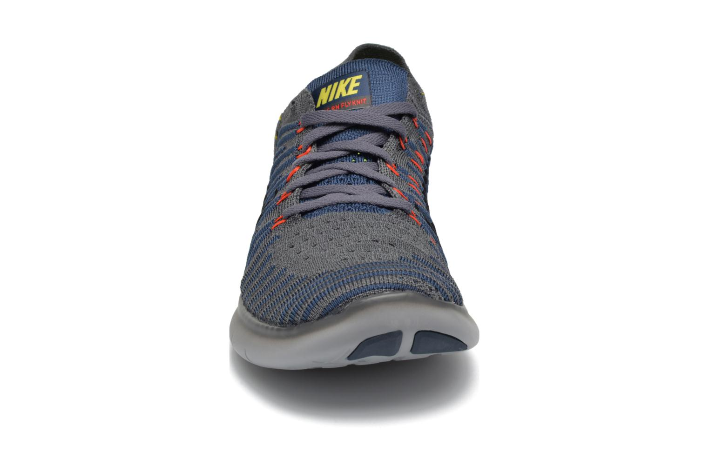Chaussures de sport Nike Nike Free Rn Flyknit Gris vue portées chaussures