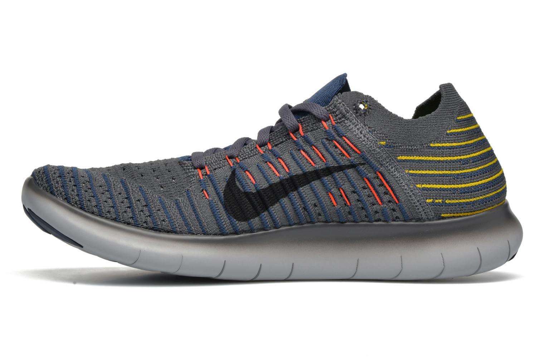 Chaussures de sport Nike Nike Free Rn Flyknit Gris vue face