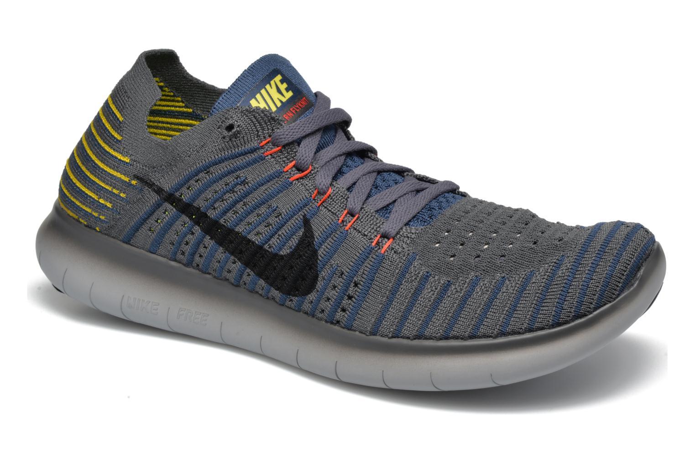 Nike Free Rn Flyknit Dark Grey/Black-Squadron Blue