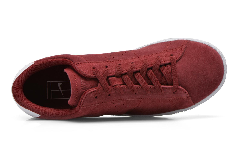 Sneaker Nike Tennis Classic Cs Suede weinrot ansicht von links