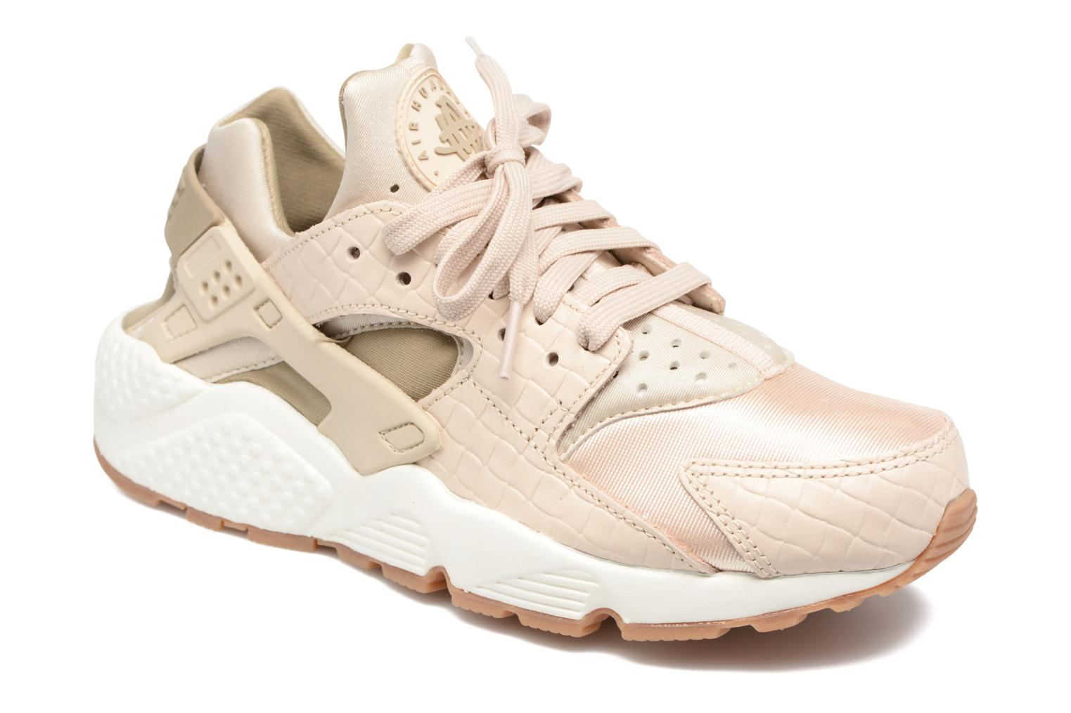 Wmns Air Huarache Run Prm OatmealKhaki-Sail-Gum Med Brown