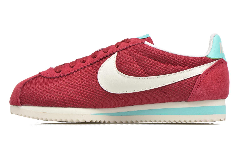 Sneakers Nike Wmns Classic Cortez Txt Bordeaux se forfra