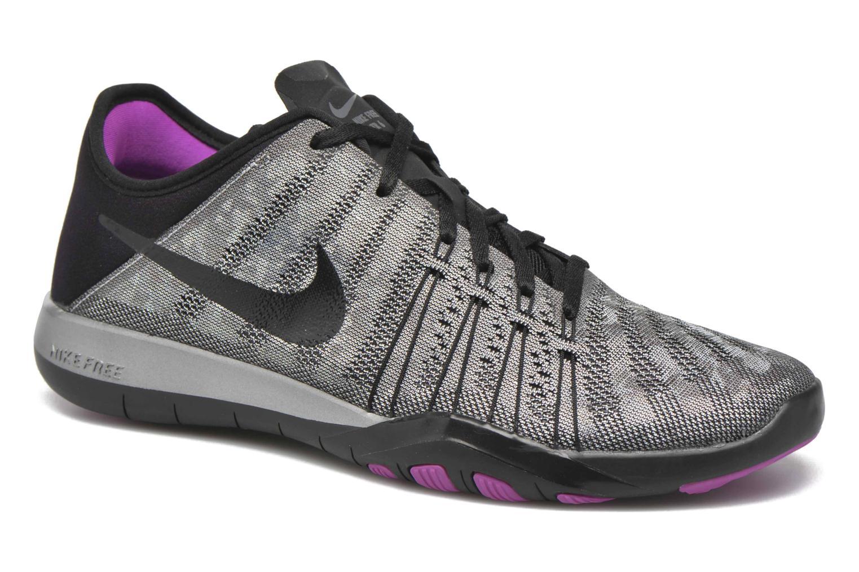 Chaussures de sport Nike Wmns Nike Free Tr 6 Mtlc Gris vue détail/paire